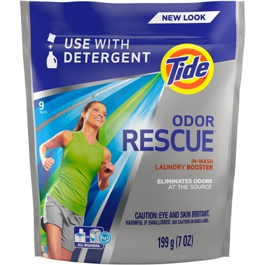 Tide Odor Rescue In Wash Laundry Booster Pacs, 9 ct.