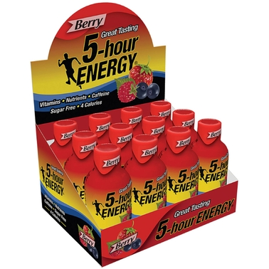 5 Hour Energy Berry Flavor Drink, 12 Pk.