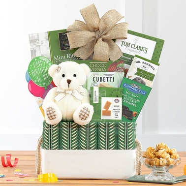 Wine Country Food Baskets Bear Hugs Happy Birthday Gourmet Food Basket