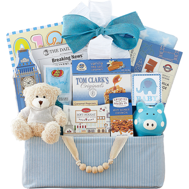Wine Country Blue Bundle of Joy Gourmet Food Basket