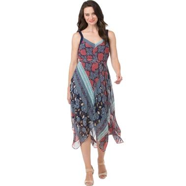 Chiffon Hanky Hem Dress