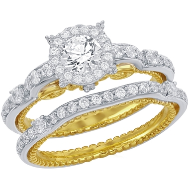 Disney Enchanted 14k White And Yellow Gold 1 1/10 Ctw ...