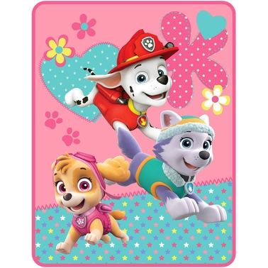 Nickelodeon Girls PAW Patrol Pup Heroes Microraschel Throw