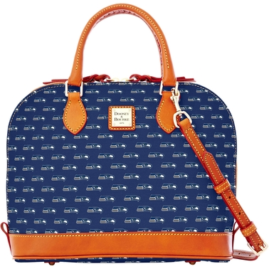 Dooney & Bourke NFL Settle Seahawks Zip Zip Satchel