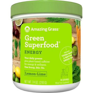 Amazing Grass Green Superfood Energy Lemon Lime Powder 30 Servings