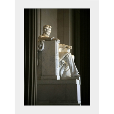 Capital Art Lincoln Memorial Inside Viewed from the Side Portrait Image Matte