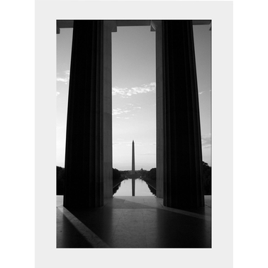 Capital Art Washington Monument Seen from the Lincoln Memorial Portrait View Matte