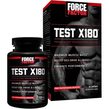 Force Factor Test X180 Sports Nutrition Supplement 60 Pk.