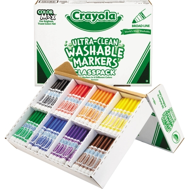 Crayola Classpack Assorted Washable Broad Point Markers 200 Pk.
