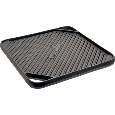 Char-Broil Cast Iron 10.5 in. Square Reversible Grill Topper