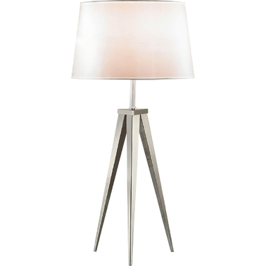 Artiva USA Hollywood 30 In. Brushed Nickel Tripod Table Lamp