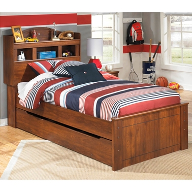 Ashley Barchan Trundle with Bookcase Headboard Bed