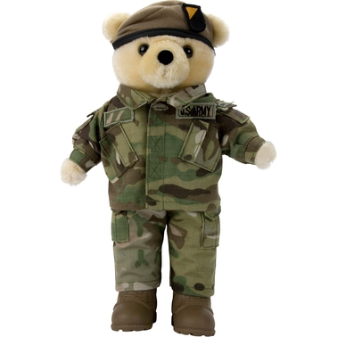 Bear Forces of America 11 in. Plush Bear in the Ranger MCAM Uniform