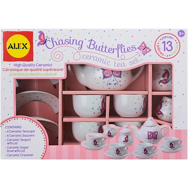 Alex Toys Chasing Butterflies 13 Pc. Ceramic Tea Set