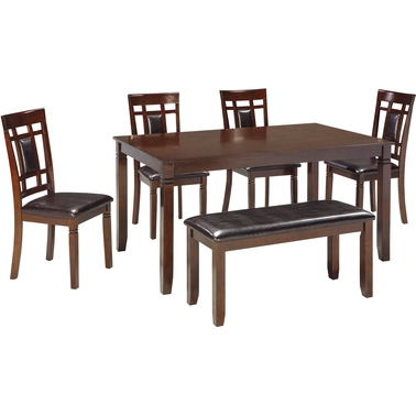 Signature Design by Ashley Bennox Dining Room Table Set with Bench