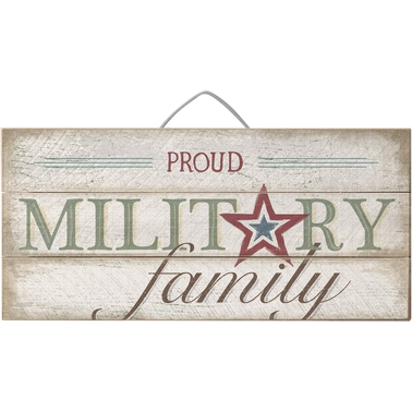 highland military family slat sign wall decorative accents home appliances shop the. Black Bedroom Furniture Sets. Home Design Ideas
