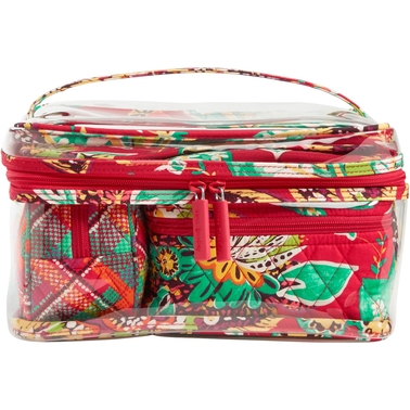 Feel fabulous on your next getaway with this Vera Bradley® Luggage Four-Piece Cosmetic Organizer. Large clear PVC cosmetic nests three additional, smaller.