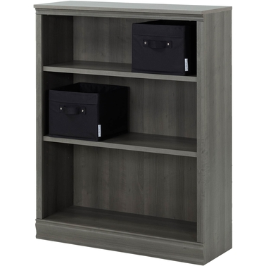 south shore morgan 3 shelf bookcase bookcases cabinets. Black Bedroom Furniture Sets. Home Design Ideas