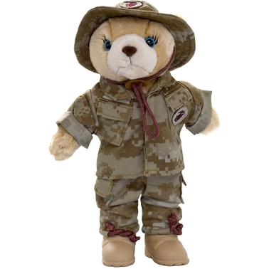 Bear Forces of America Marine Corps Dress Blue Uniform 20 in. Plush Bear