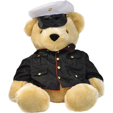 Bear Forces of America Marine Corps Woodland Marpat Uniform Plush Bear 24 in.