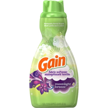 Gain Moonlight Breeze Liquid Fabric Softener, 48 loads