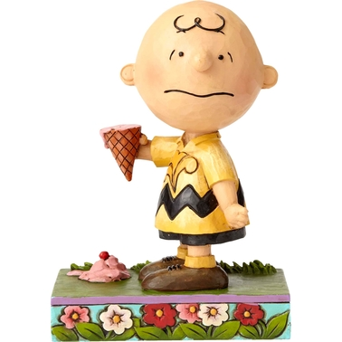 Jim Shore Peanuts Charlie Brown With Ice Cream