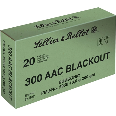 Sellier & Bellot .300 Blackout 200 Gr. FMJ Subsonic