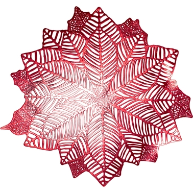 Benson Mills Holiday Poinsettia Pressed Vinyl Placemat