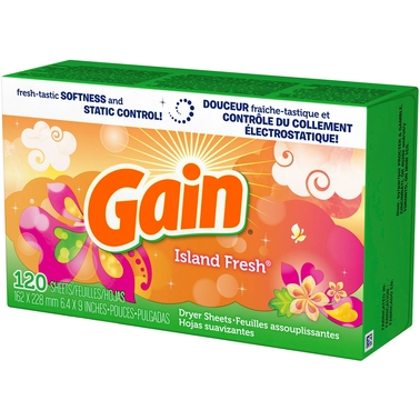 Gain Island Fresh Scent Dryer Sheets