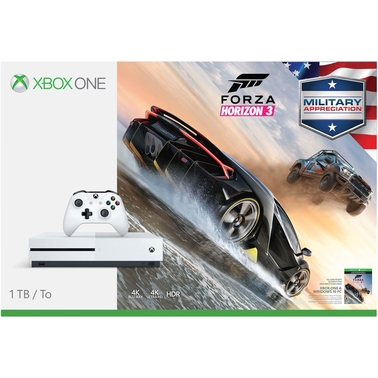 Xbox One S Forza 1TB Military Appreciation Bundle