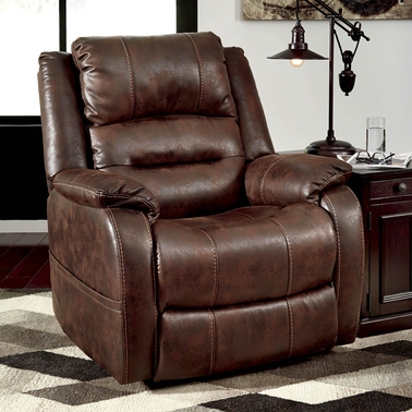 Ashley Barling Power Recliner with Power Headrest