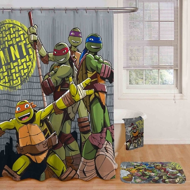 Jay Franco and Sons Teenage Mutant Ninja Turtles Cross Hatching Shower Curtain