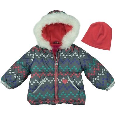 74497c81a London Fog Infant Girls Printed Puffer Jacket