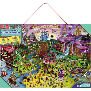 T.S. Shure Wooden Magnetic Storyland Map & Puzzle