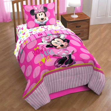 Jay Franco and Sons Disney Minnie Mouse Bigger Bow Twin Comforter