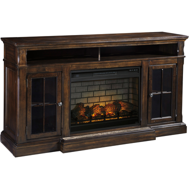 Ashley Roddinton Tv Stand With Fireplace Insert Media
