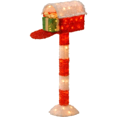 National Tree Co. Pre Lit 48 In. Tinsel Mailbox with Gift
