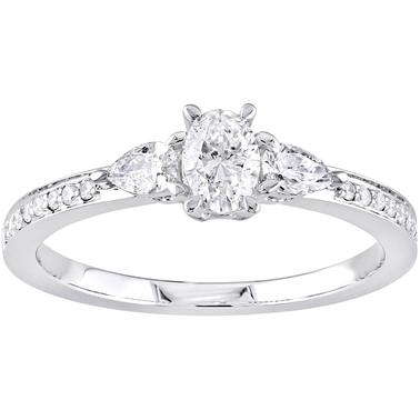 361b090abb6c4 Diamore 14k White Gold 3/5 Ctw Diamond Three Stone Vintage ...