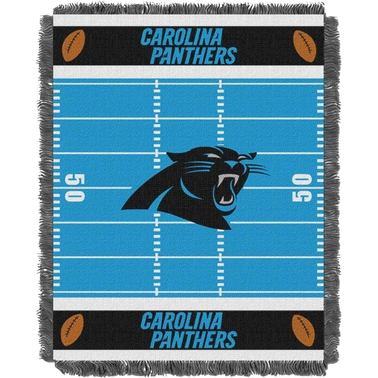 Northwest NFL 04401 Panthers Field Baby Throw