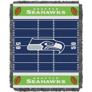 Northwest NFL 04401 Seahawks Field Baby Throw