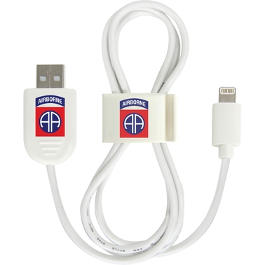 QuikVolt 82nd Airborne Division Lightning USB Cable with QuikClip
