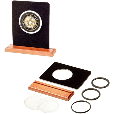Challenge Coin Wood Stand Display