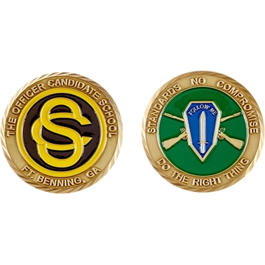 Challenge Coin Fort Benning Officer Candidate School Coin
