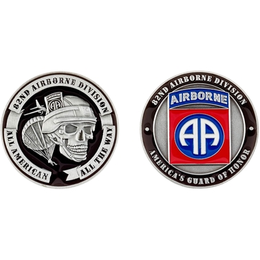 Challenge Coin 82nd Airborne Coin   Coins & Cases   Gifts