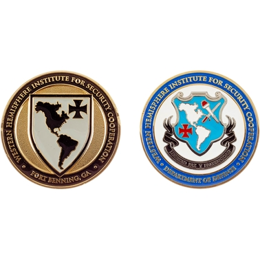 Challenge Coin Ft. Benning WHINSEC Coin