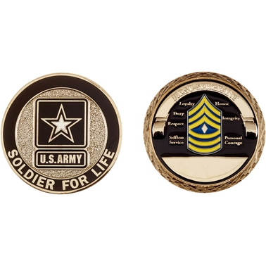 Challenge Coin Army Rank First Sergeant Coin