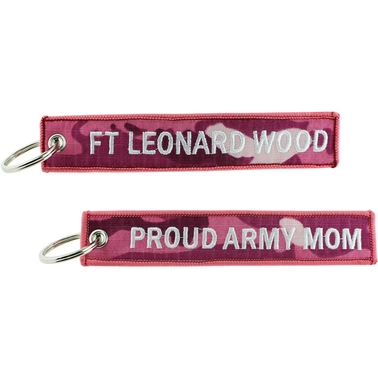 Challenge Coin Proud Army Mom Ft. Leonard Wood Keychain