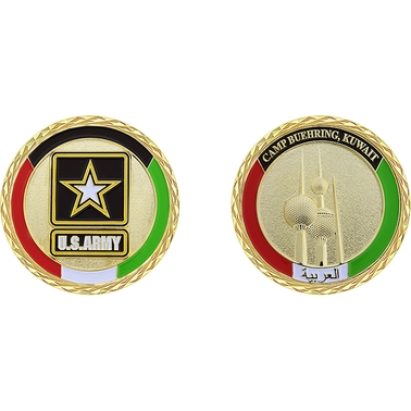 Challenge Coin Kuwait Camp Buehring Towers Coin