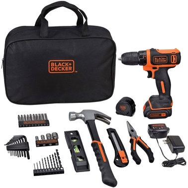 Black & Decker 12V MAX Lithium Ion Drill/Driver 43 pc. Project Kit