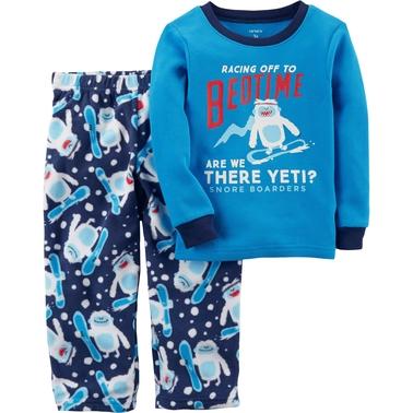 ca185819c Carter s Infant Boys 2 Pc. Pajama Racing Off To Bedtime Yeti Set ...